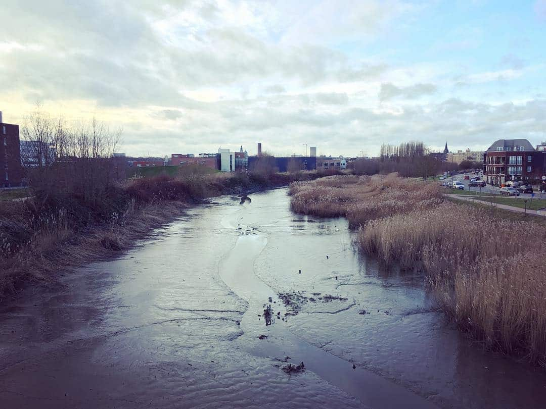 Zicht van Gentbruggebrug richting Arbedpark
