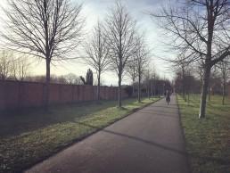 wandelpad langs Westerbegraafplaats